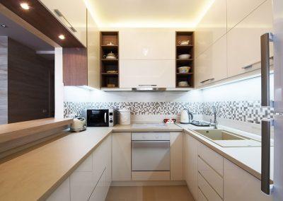 Проект на кухня от МДФ лак гланц 001