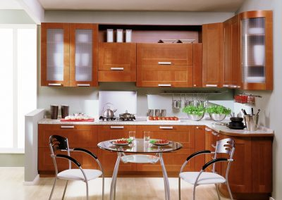 Проект на кухня с таблени врати 001