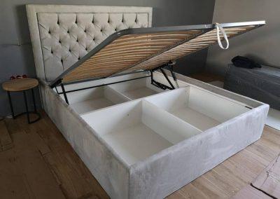 1003. Тапицирана спалня по поръчка с механизъм