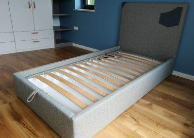 1011. Тапицирана легло по поръчка за детска стая