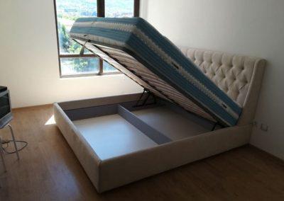 1014. Тапицирана спалня по поръчка с повдигащ механизъм